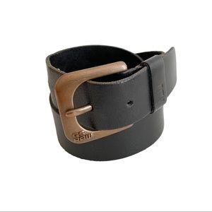 G-Star Raw Leather Belt Black Brown Buckle L